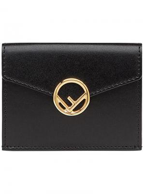Бумажник Fendi. Цвет: черный