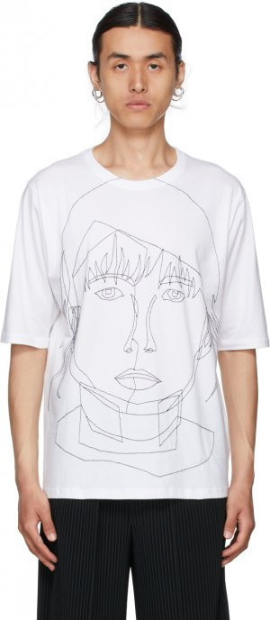 White Stitched Starcut II T-Shirt Bless. Цвет: white/black