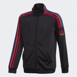 Олимпийка Adicolor 3D Trefoil Originals adidas. Цвет: черный