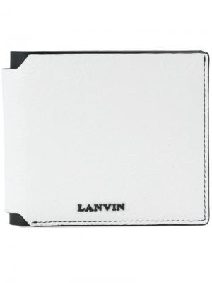 Бумажник с логотипом Lanvin. Цвет: белый