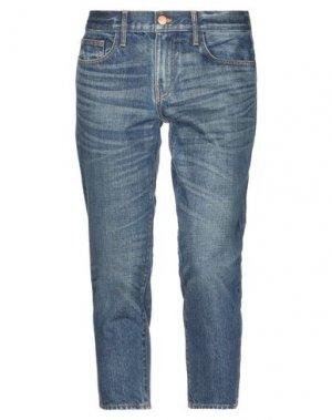 Джинсовые брюки-капри CRIPPEN. Цвет: синий