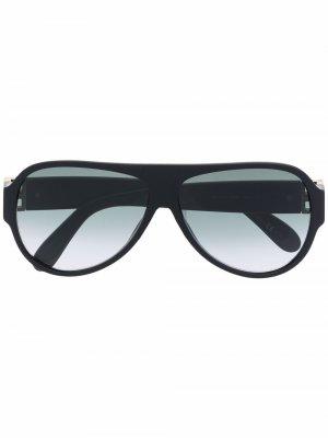 Солнцезащитные очки-авиаторы с логотипом Givenchy Eyewear. Цвет: черный