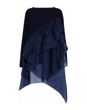 Блузка ANTONIO BERARDI. Цвет: темно-синий