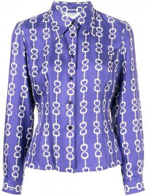 Рубашка с принтом Céline Pre-Owned. Цвет: фиолетовый