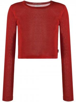 Укороченный джемпер с круглым вырезом Woolrich. Цвет: красный
