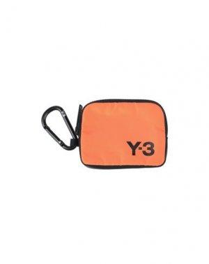 Кошелек для монет Y-3. Цвет: оранжевый