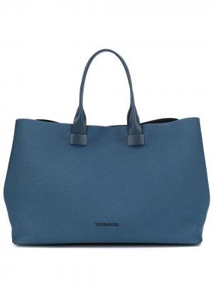 Объемная сумка-тоут Adventure Troubadour. Цвет: синий