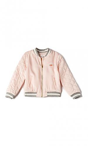 Куртка бомбер soft teddy Chloe. Цвет: розовый