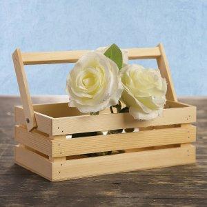 Кашпо деревянное 24.5×13.5×9 см Дарим Красиво