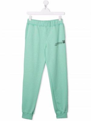 TEEN Future track pants MSGM Kids. Цвет: зеленый
