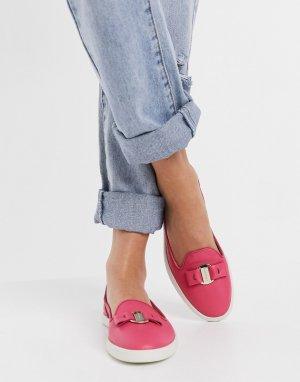 Кожаные лоферы цвета фуксии mia-Розовый цвет Fiorelli