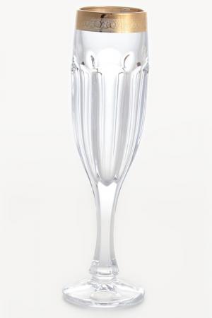 Набор фужеров для шампанского Crystalite Bohemia. Цвет: прозрачный, золотой