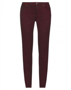 Джинсовые брюки CHEAP MONDAY. Цвет: красно-коричневый