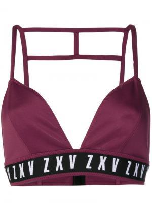 Бралетт с логотипом Versus. Цвет: розовый