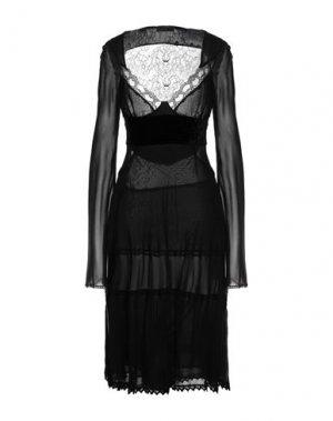Платье до колена COSTUME NATIONAL. Цвет: черный