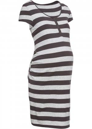 Ночная сорочка для кормления bonprix. Цвет: серый