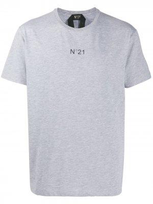 Logo-print T-shirt Nº21. Цвет: серый