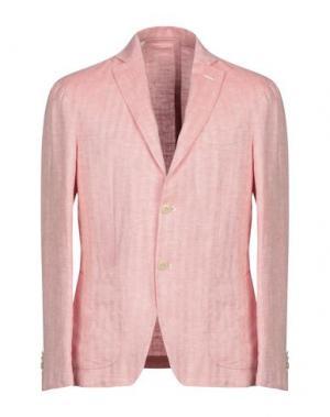 Пиджак MANIFATTURA DI GENOVA. Цвет: лососево-розовый
