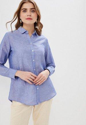 Рубашка Banana Republic LS DILLON LINEN SOLIDS. Цвет: голубой