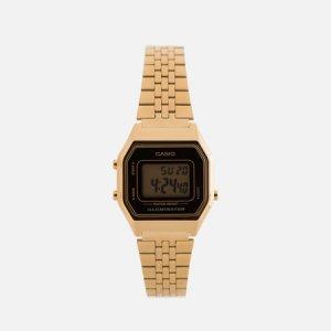 Наручные часы LA680WEGA-1E CASIO. Цвет: золотой