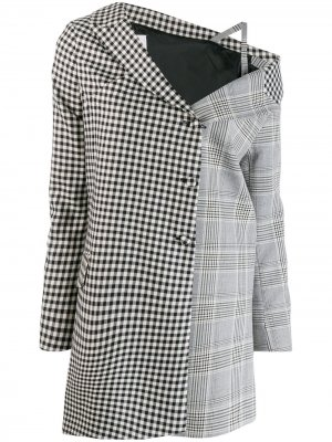 Деконструированное пальто с открытыми плечами Each X Other. Цвет: черный