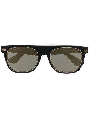 Солнцезащитные очки в квадратной оправе A BATHING APE®. Цвет: зеленый