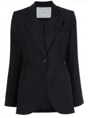 Пиджак с застежкой на пуговицу Adam Lippes. Цвет: черный