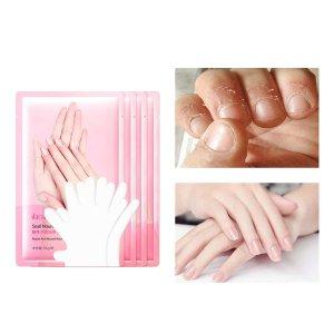 4 пары питательное отшелушивающее средство для рук SHEIN. Цвет: розовые