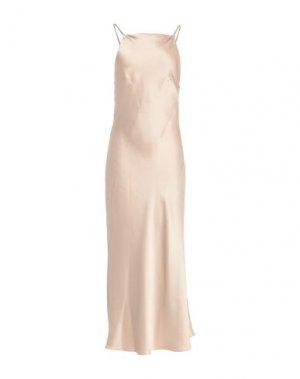 Длинное платье CAMILLA AND MARC. Цвет: бежевый