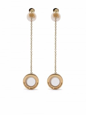 18kt yellow gold pearl Sonic earpod earrings Delfina Delettrez. Цвет: золотистый