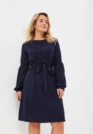 Платье LOST INK PLUS SKATER DRESS WITH TIE WAIST. Цвет: синий