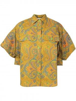 Рубашка Berwyn с цветочным принтом Alexis. Цвет: желтый