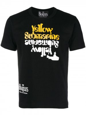 Lyrics printed T-shirt The Beatles X Comme Des Garçons. Цвет: черный