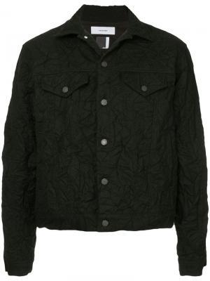 Джинсовая куртка x Woolmark с эффектом помятости Facetasm. Цвет: черный