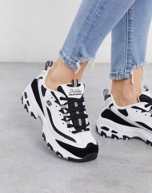 Белые кроссовки на массивной подошве -Белый Skechers