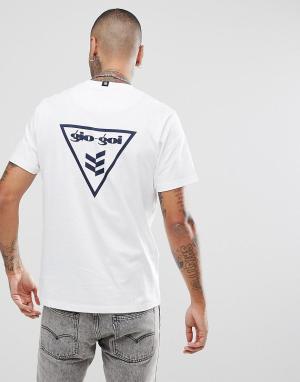 Белая футболка с принтом Gio Goi. Цвет: белый