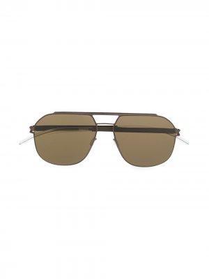 Солнцезащитные очки-авиаторы Selleck Mykita. Цвет: коричневый