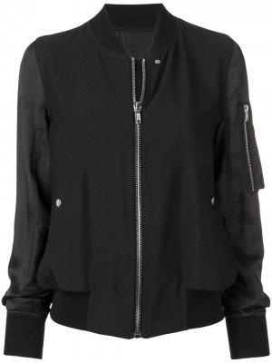 Куртка-бомбер на молнии Rick Owens. Цвет: черный