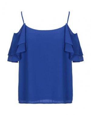 Блузка ALLURE. Цвет: синий