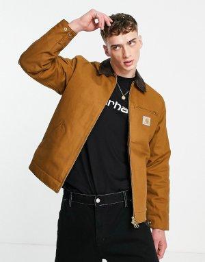 Коричневая куртка detroit-Коричневый цвет Carhartt WIP