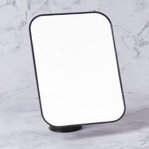 Настольное зеркало для макияжа SHEIN. Цвет: чёрный