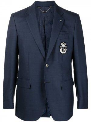 Пиджак с логотипом Crest Billionaire. Цвет: синий