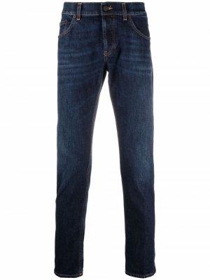 Узкие джинсы с завышенной талией Dondup. Цвет: синий