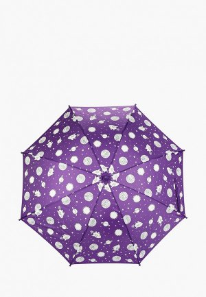 Зонт-трость Goroshek. Цвет: фиолетовый