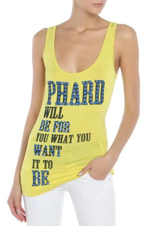 Майка Phard. Цвет: желтый