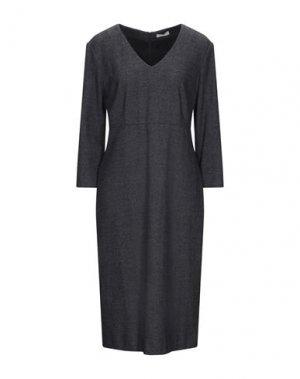 Платье миди CAPPELLINI by PESERICO. Цвет: темно-синий