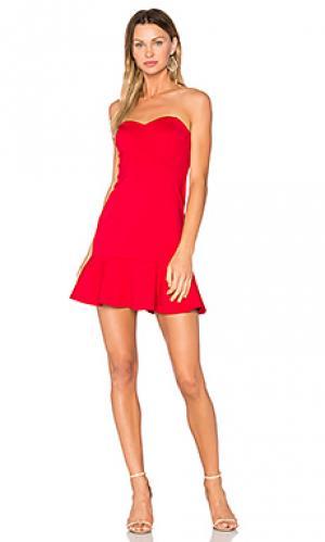 Платье rocky Amanda Uprichard. Цвет: красный
