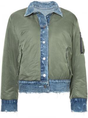 Two tone bomber style jacket Amiri. Цвет: синий