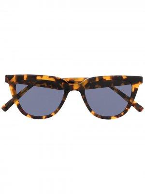 Солнцезащитные очки Tete в оправе кошачий глаз Gentle Monster. Цвет: коричневый