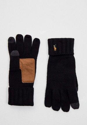 Перчатки Polo Ralph Lauren. Цвет: черный